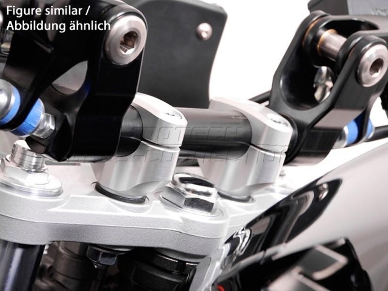 Suzuki GSX 1250 F (09-) Redukce řídítek z 22/28 mm, stříbrné pro