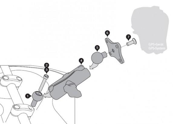 SW-Motech univerzální držák šroub M6