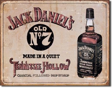 Jack Daniel's - Tennessee Hollow - plechová retro cedule 40x32 c