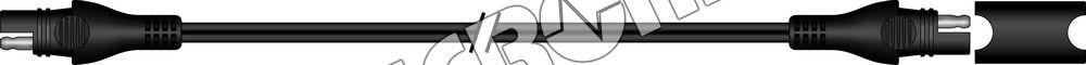 SAE-73WP příslušenství k Accumate a Optimate - Voděodolný prodlu