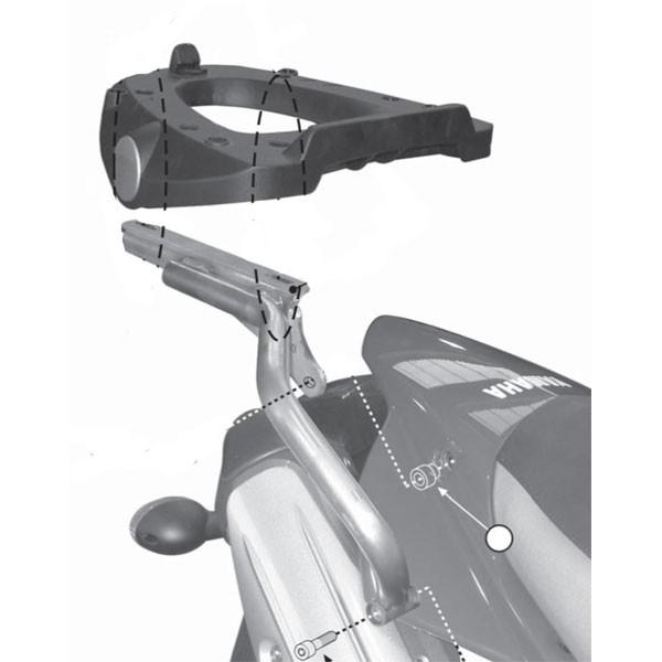 Yamaha XT 660 R/X (07-) - horní nosič Givi SR365M