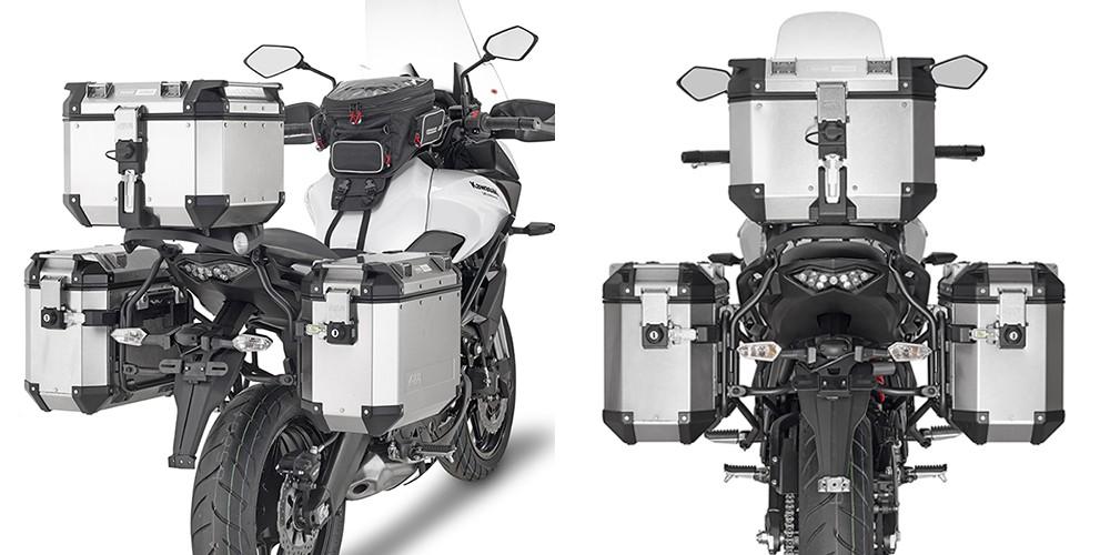Kawasaki Versys 650 (15-) - nosič bočních hliníkových kufrů, Giv