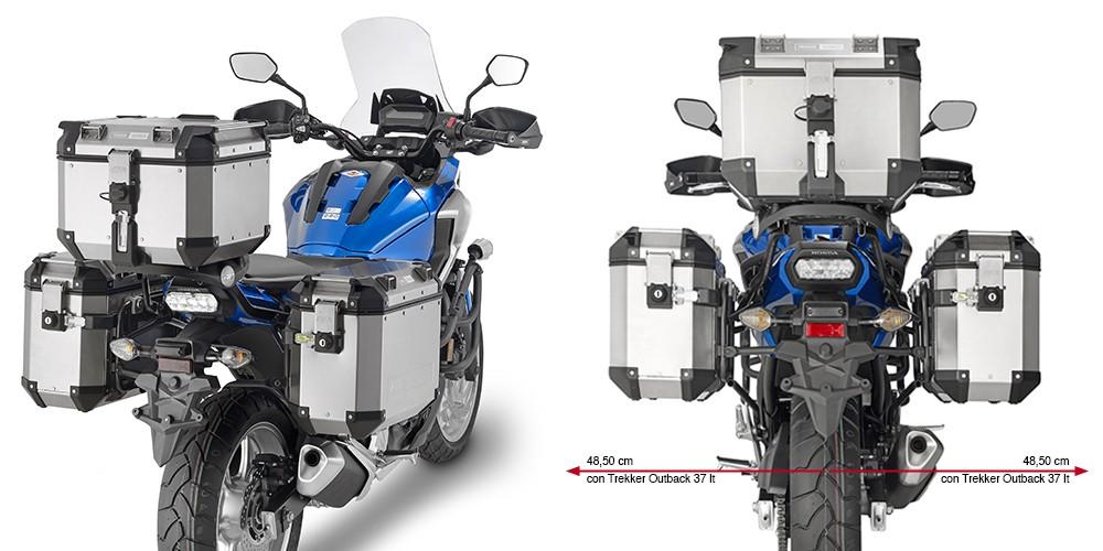 Honda NC 750 X (16-) - nosič bočních hliníkových kufrů Trekker O