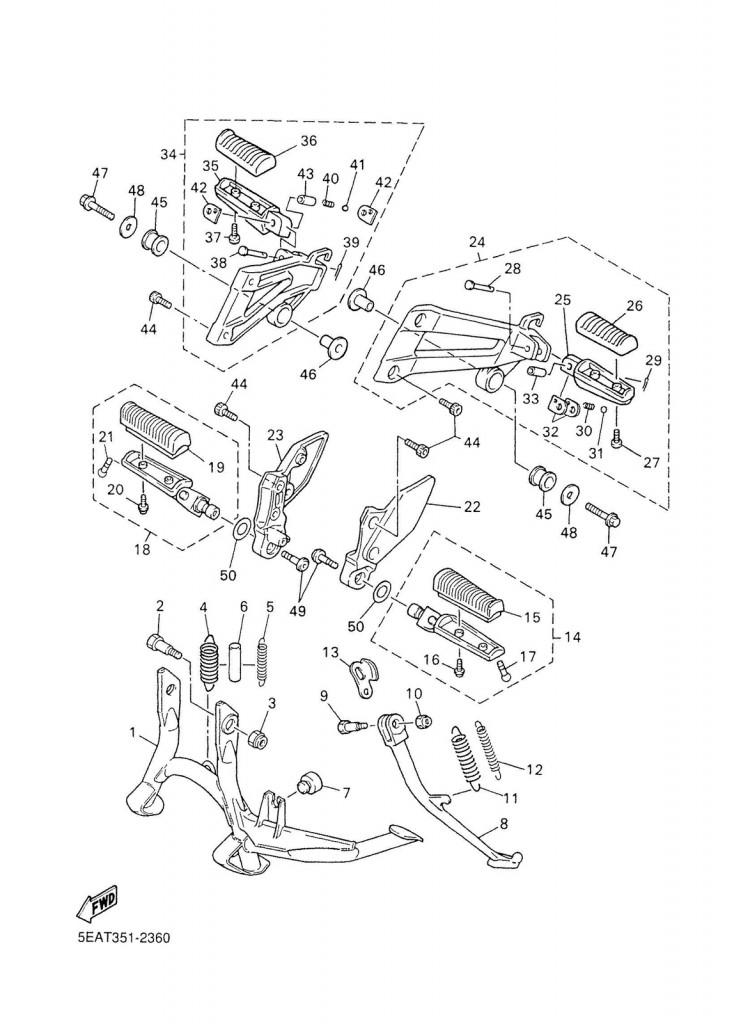 Yamaha XJR 1200/1300 Guma stupačky přední/zadní