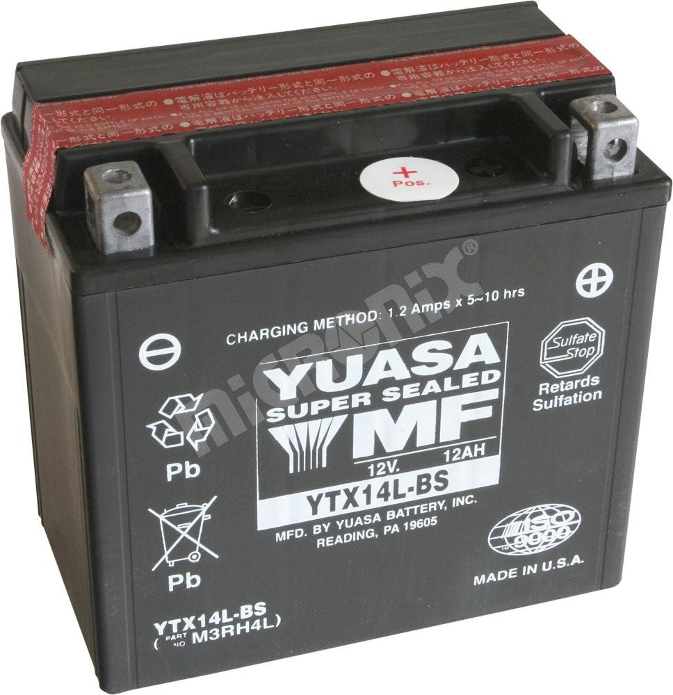 Motobaterie Yuasa YTX14L-BS 12V 12Ah