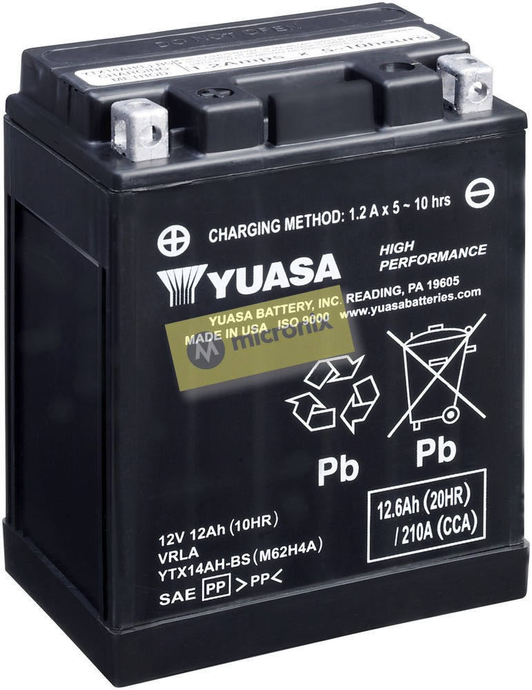 Motobaterie Yuasa YTX14AH-BS 12V 12Ah