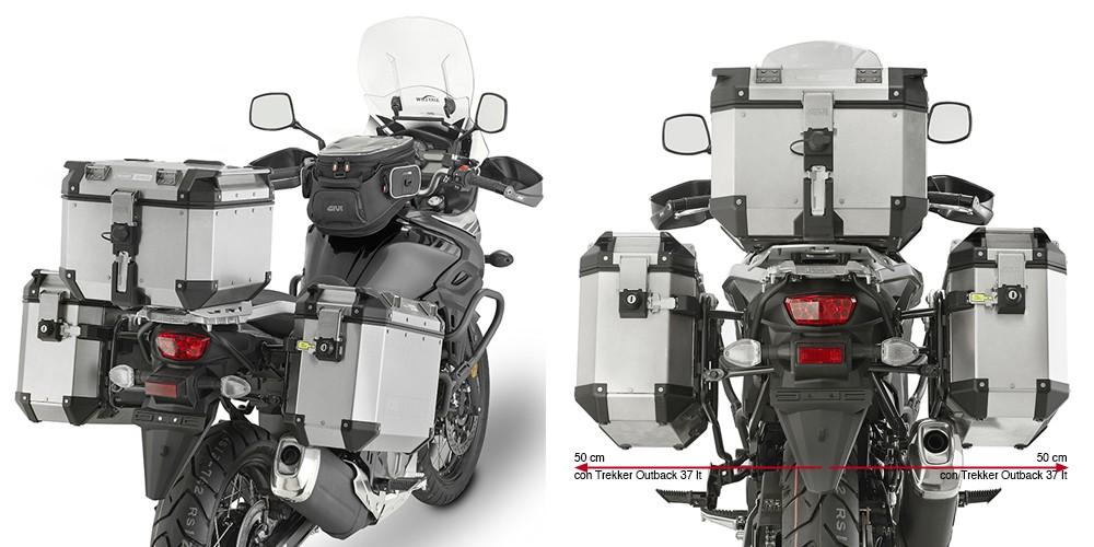 Suzuki V-Strom 650 (17-) - nosič hliníkových bočních kufrů Givi