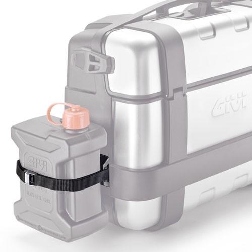 Nerezový držák kanystru Givi TAN01 pro kufry Trekker TRK 33 a TR