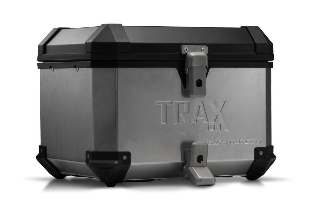 Hliníkový kufr horní TraX ® ION 38 litrů stříbrný