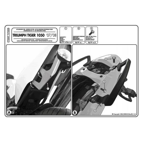 Triumph Tiger 1050 (07-12) - kit pro samostatnou montáž boč. nos