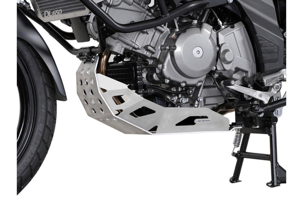 Suzuki DL 650 V-Strom (04-10) stříbrný kryt motoru SW-Motech