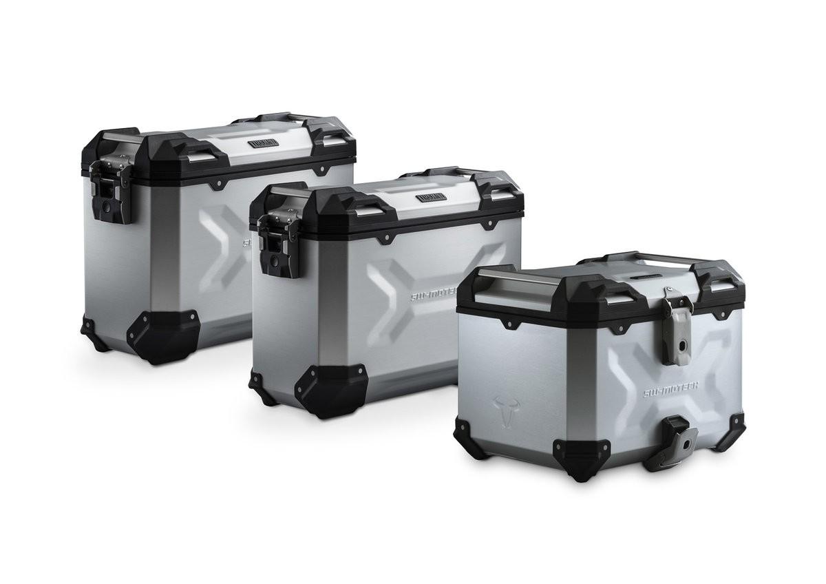 Adventure set hliníkových kufrů TRAX ADV stříbrné provedení Triu