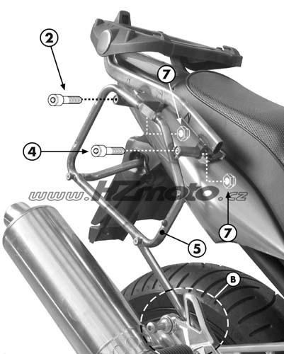 Yamaha FZS 1000 Fazer (03-05) - boční trubkový nosič Givi PL349