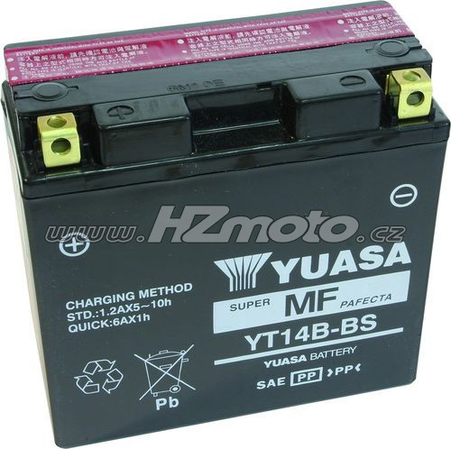Motobaterie Yuasa YT14B-BS 12V 12Ah