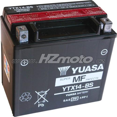Motobaterie Yuasa YTX14-BS 12V 12Ah