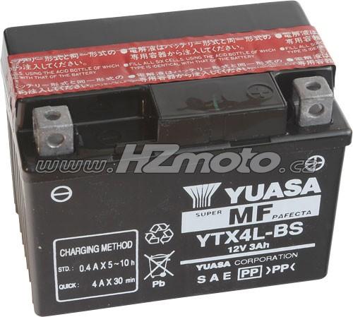 Motobaterie Yuasa YTX4L-BS 12V 3Ah