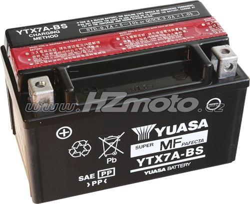 Motobaterie Yuasa YTX7A-BS 12V 6Ah