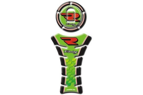 Tankpad Racing Kawasaki + víčko nádrže černá+zelená (PBTV05K13)