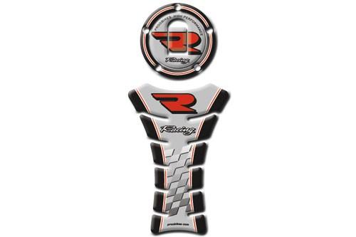 Tankpad Racing Kawasaki + víčko nádrže černá+stříbrná (PBTV05K14