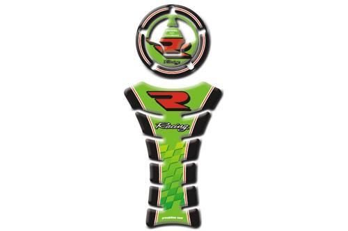 Tankpad Racing Kawasaki + víčko nádrže černá+zelená (PBTV06K13)