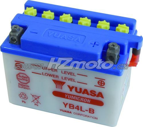 Motobaterie Yuasa YB4L-B 12V 4Ah