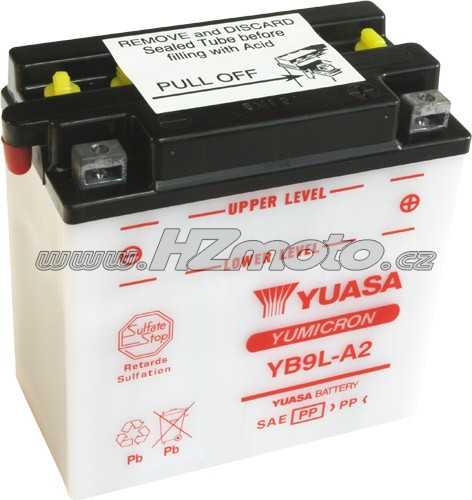 Motobaterie Yuasa YB9L-A2 12V 9Ah