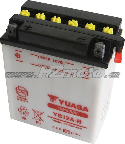 Motobaterie Yuasa YB12A-B 12V 12Ah