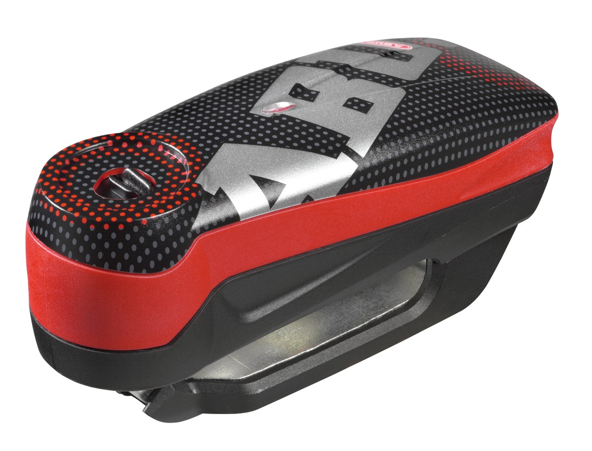 Abus Detecto 7000 RS1 Pixel Red - zámek na kotoučovou brzdu