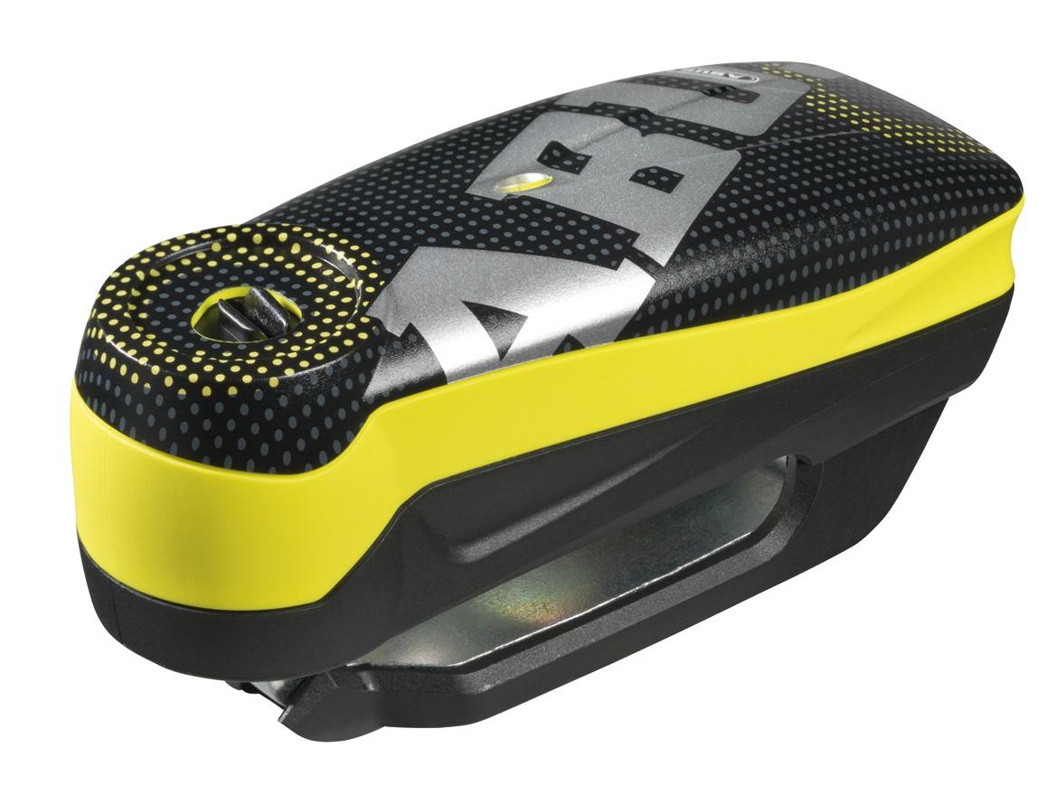 Abus Detecto 7000 RS1 Pixel yellow - zámek na kotoučovou brzdu