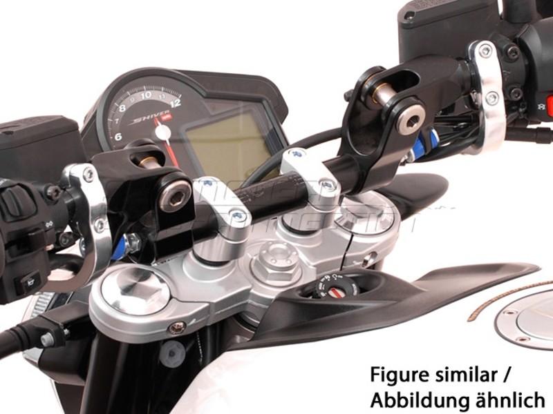 Aprilia Shiver 750 (08-) Redukce řídítek z 22/28 mm, černé prove
