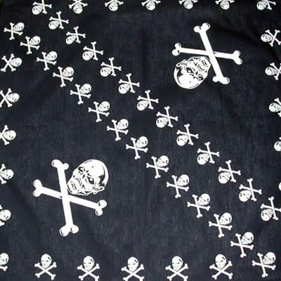 Bavlněný šátek - Lebky