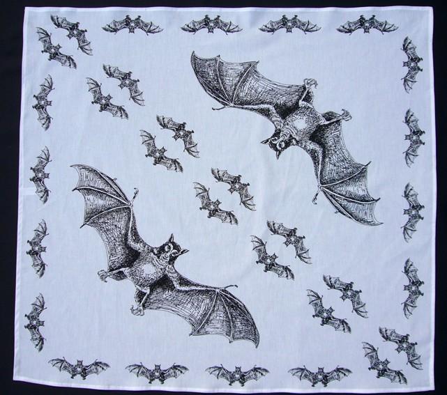 Bavlněný šátek - Netopýr BW