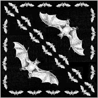 Bavlněný šátek - Netopýr