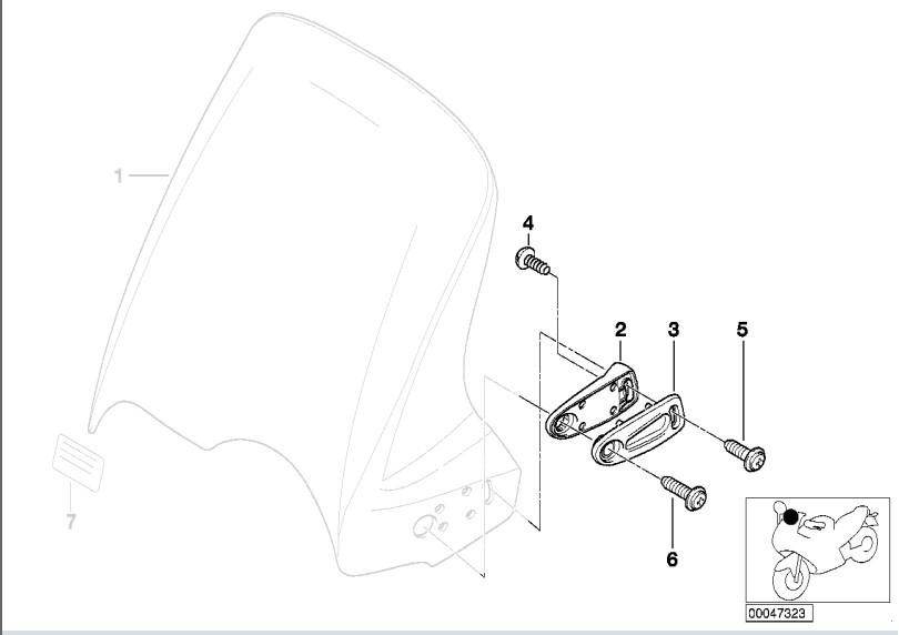 BMW R 1150 GS (02-05) Adventure montážní sada k plexi MRA Varios