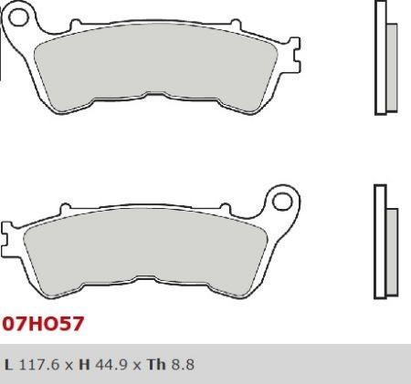 Honda XL 1000 V Varadero ABS (04-) - brzdové destičky přední Bre