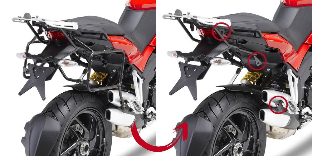 Ducati Multistrada 1200 (10-14) - nosič bočních kufrů, Givi PLR7