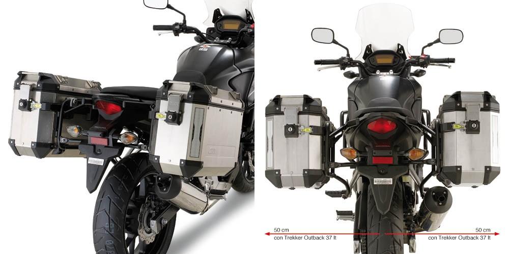 Honda CB 500 X (13-) - nosič bočních hliníkových kufrů, Givi PL1