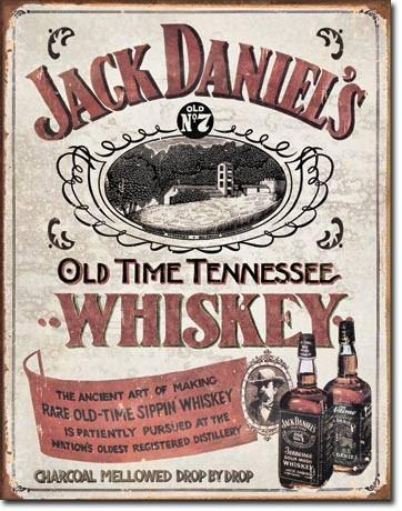 Jack Daniels - Sippin Whiskey - plechová cedule, 40x32 cm