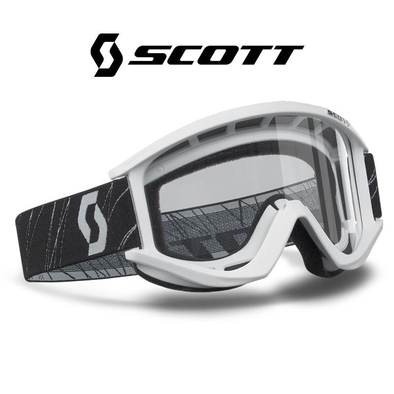 Motokrosové brýle SCOTT RECOILXI bílé , čiré sklo
