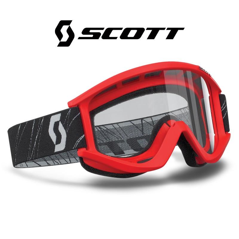 Motokrosové brýle SCOTT RECOILXI červené , čiré sklo