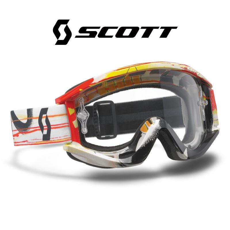 Motokrosové brýle SCOTT RECOILXI PRO Paint Orange , čiré sklo
