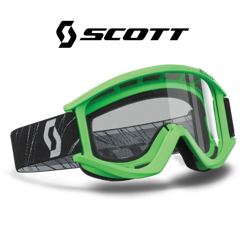 Motokrosové brýle SCOTT RECOILXI zelené , čiré sklo