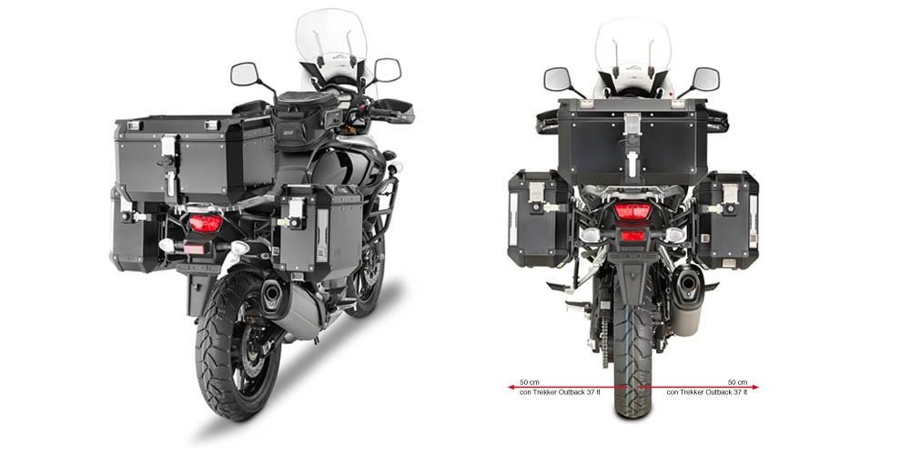 Suzuki DL 1000 V-Strom (14-) - boční nosič hliníkových kufrů Giv