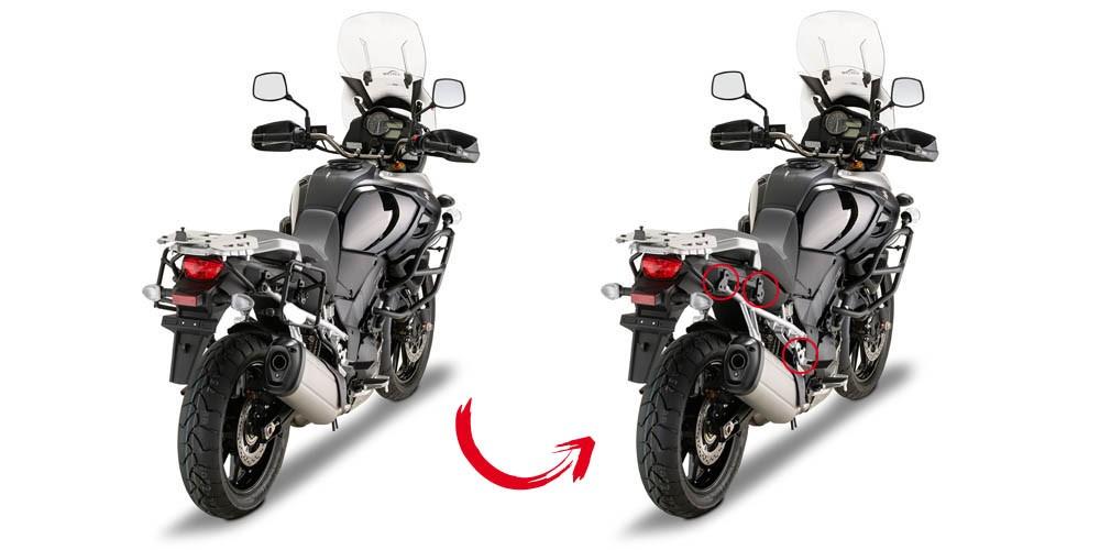 Suzuki DL 1000 V-Strom (14-) - boční nosič pro kufry Monokey Giv