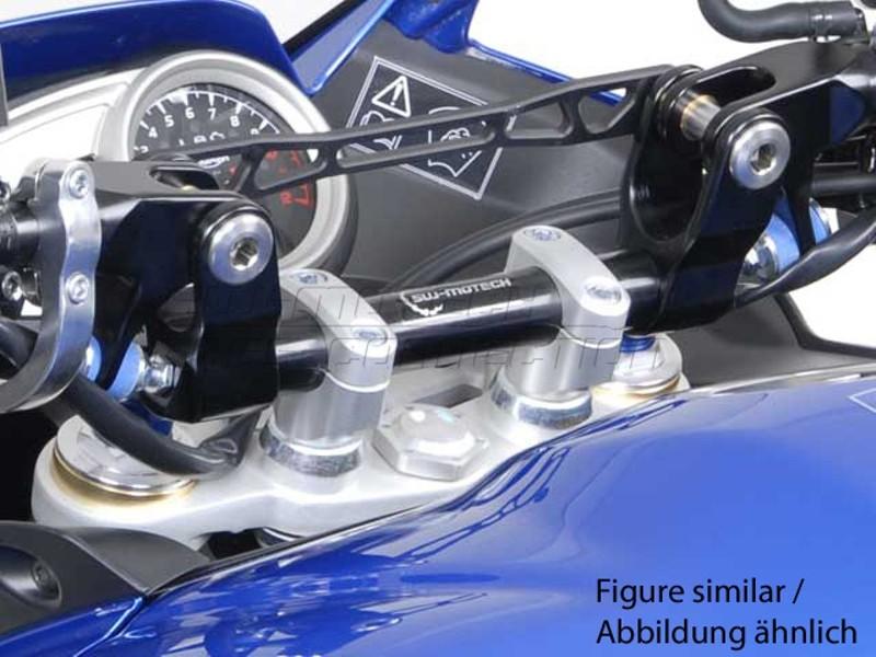 Triumph Triger 1050 (06-11) Redukce řídítek z 22/28 mm, stříbrné