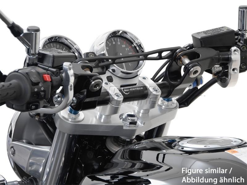 Yamaha XJR 1300 (06-09) Redukce řídítek z 22/28 mm, stříbrné pro
