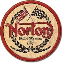 Norton Logo Round - plechová cedule,