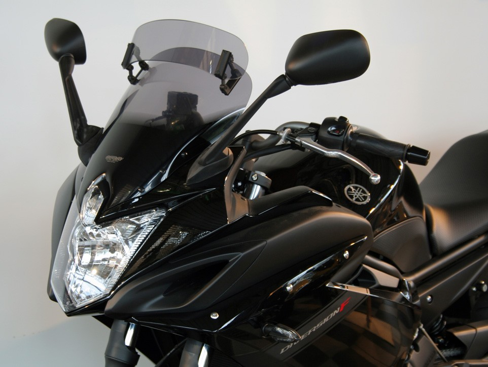 Yamaha FZ6 R (10-) MRA plexi Variotouring, kouřové