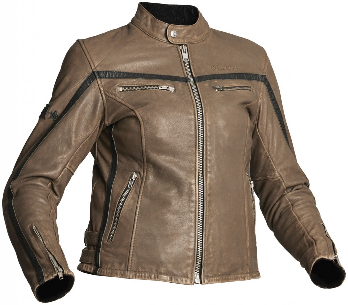 310 Lady - dámská kožená bunda Halvarssons Khaki/Black