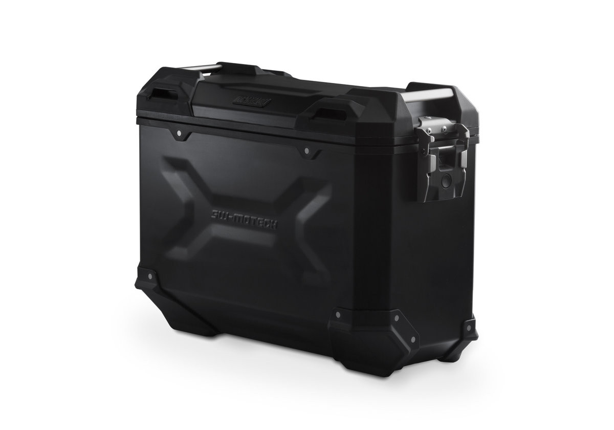 3feaeed522655 Hliníkový kufr TraX ® Adventure 37 litrů - černý pravý